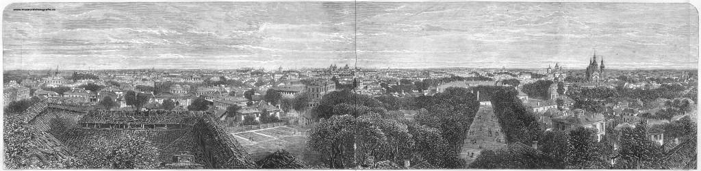 Panorama Bucuresti, 1865