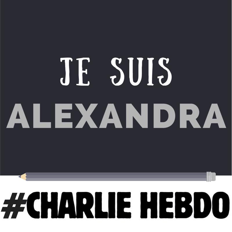 Je suis Alexandra, et je suis pour la liberté d'expression et contre l'extrémisme
