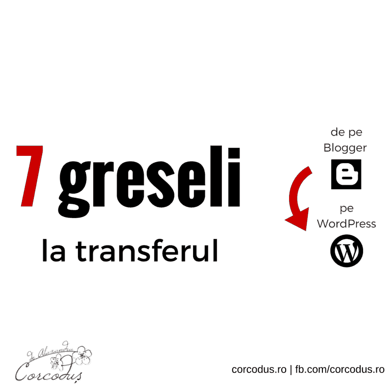 7 greseli in mutarea de pe Blogspot pe WordPress