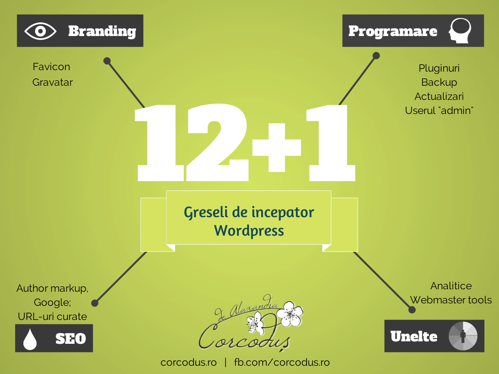12+1 greseli de incapator pe wordpress